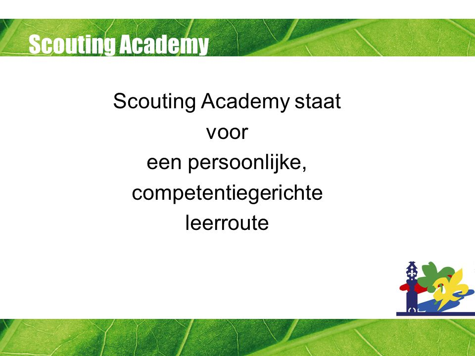 Scouting Academy staat