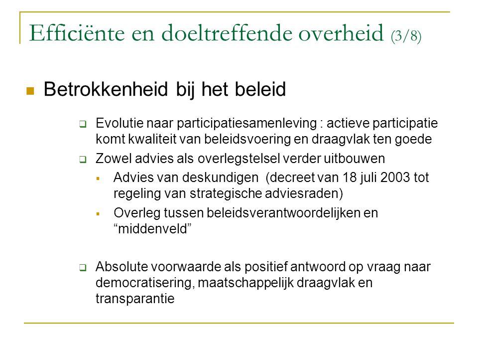 Efficiënte en doeltreffende overheid (3/8)