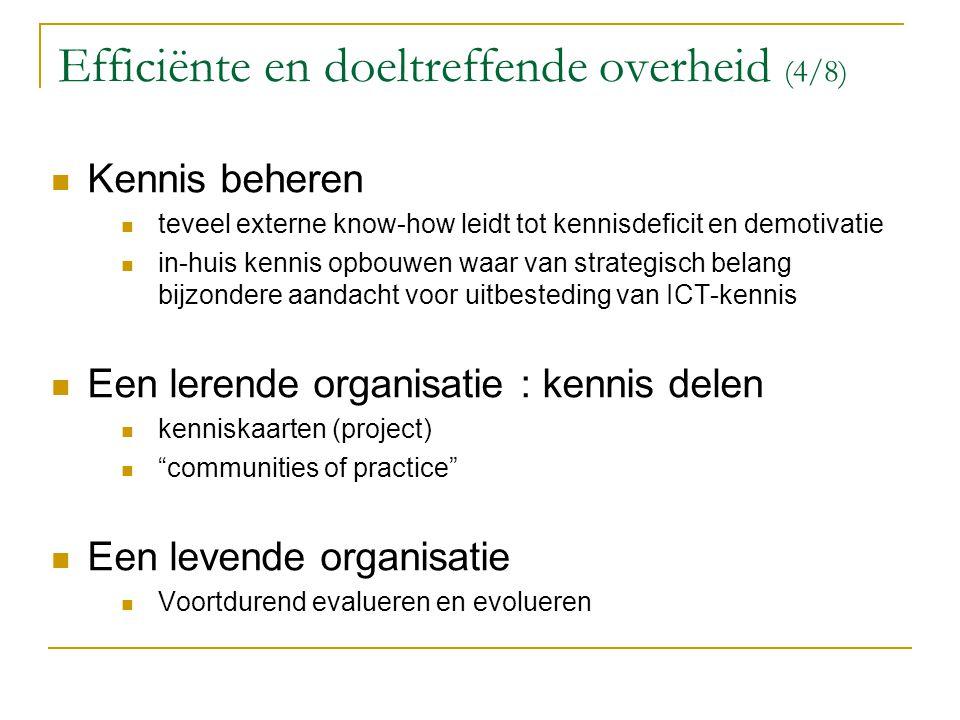Efficiënte en doeltreffende overheid (4/8)