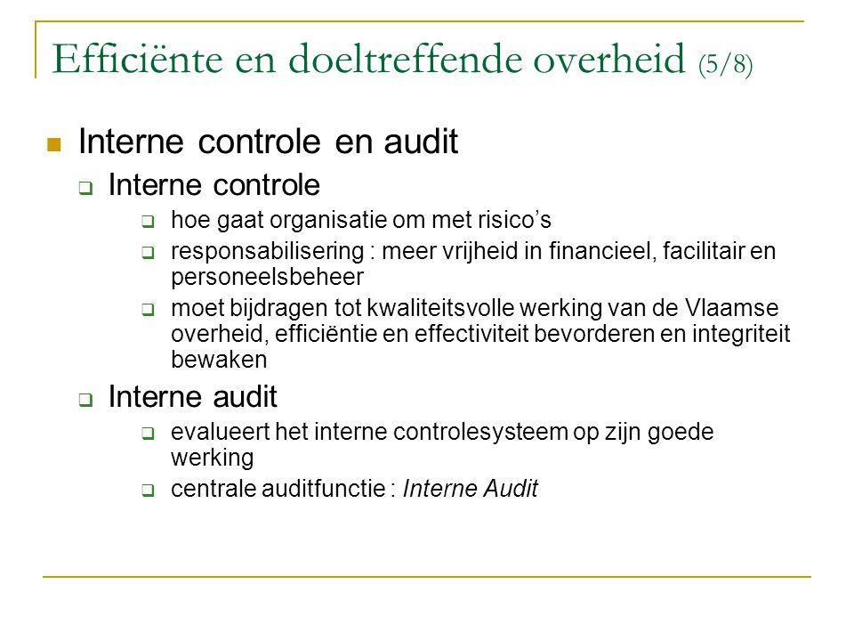 Efficiënte en doeltreffende overheid (5/8)