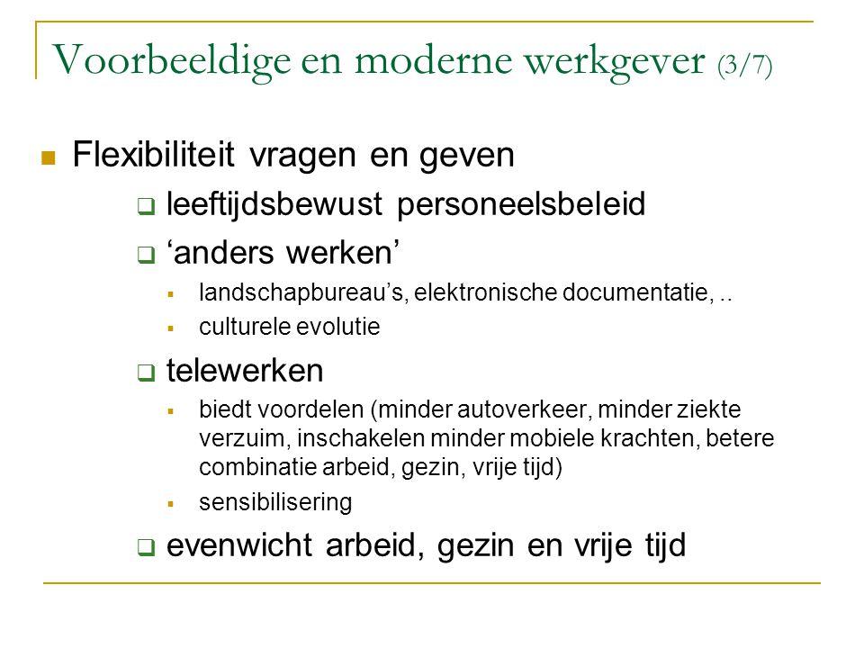 Voorbeeldige en moderne werkgever (3/7)