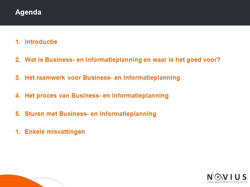 Agenda Introductie. Wat is Business- en Informatieplanning en waar is het goed voor Het raamwerk voor Business- en Informatieplanning.