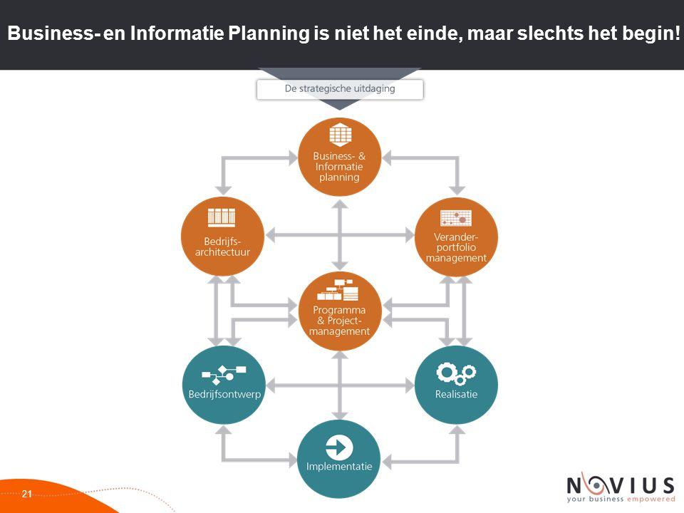 Business- en Informatie Planning is niet het einde, maar slechts het begin!