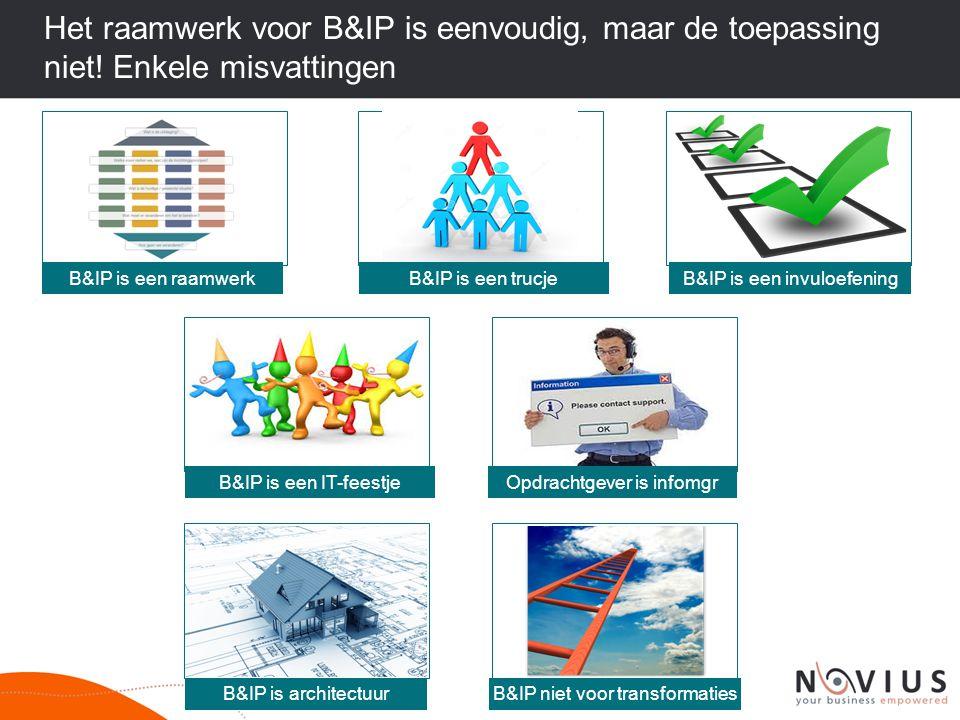 Het raamwerk voor B&IP is eenvoudig, maar de toepassing niet
