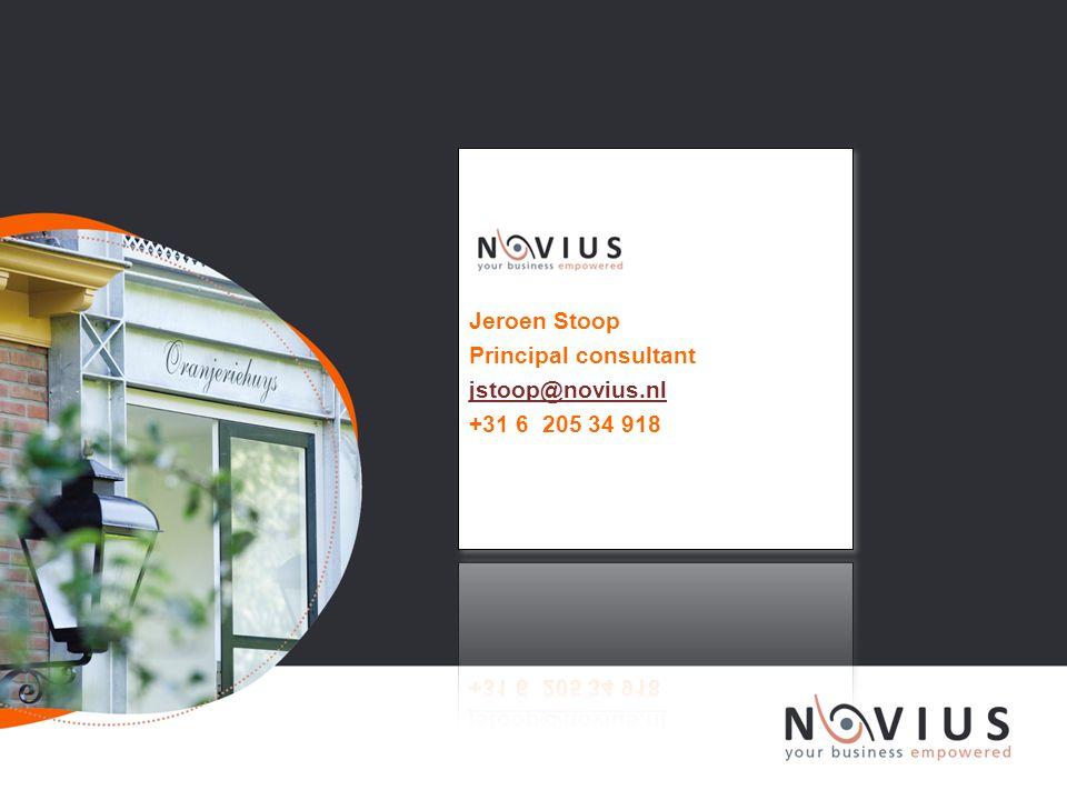 Jeroen Stoop Principal consultant jstoop@novius.nl +31 6 205 34 918