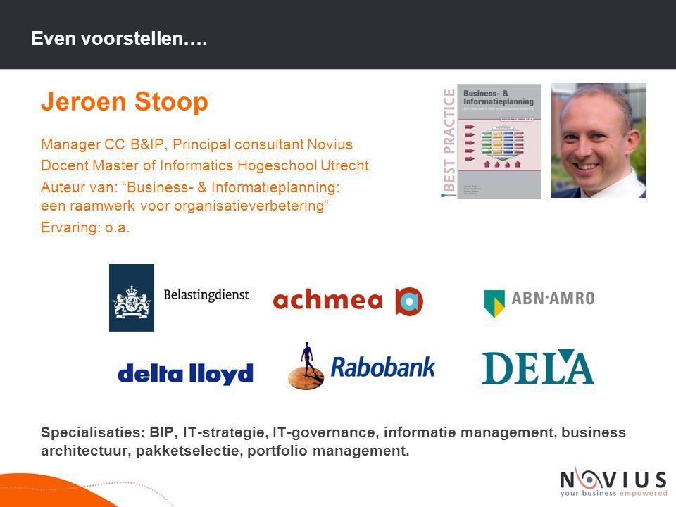 Jeroen Stoop Even voorstellen….
