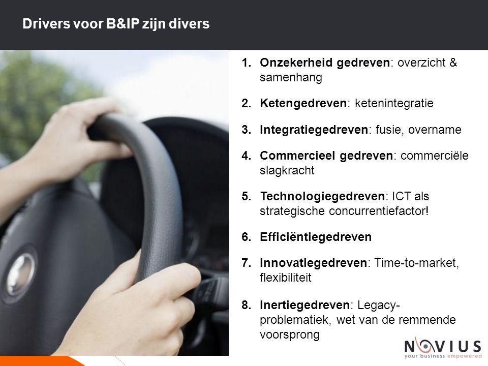 Drivers voor B&IP zijn divers
