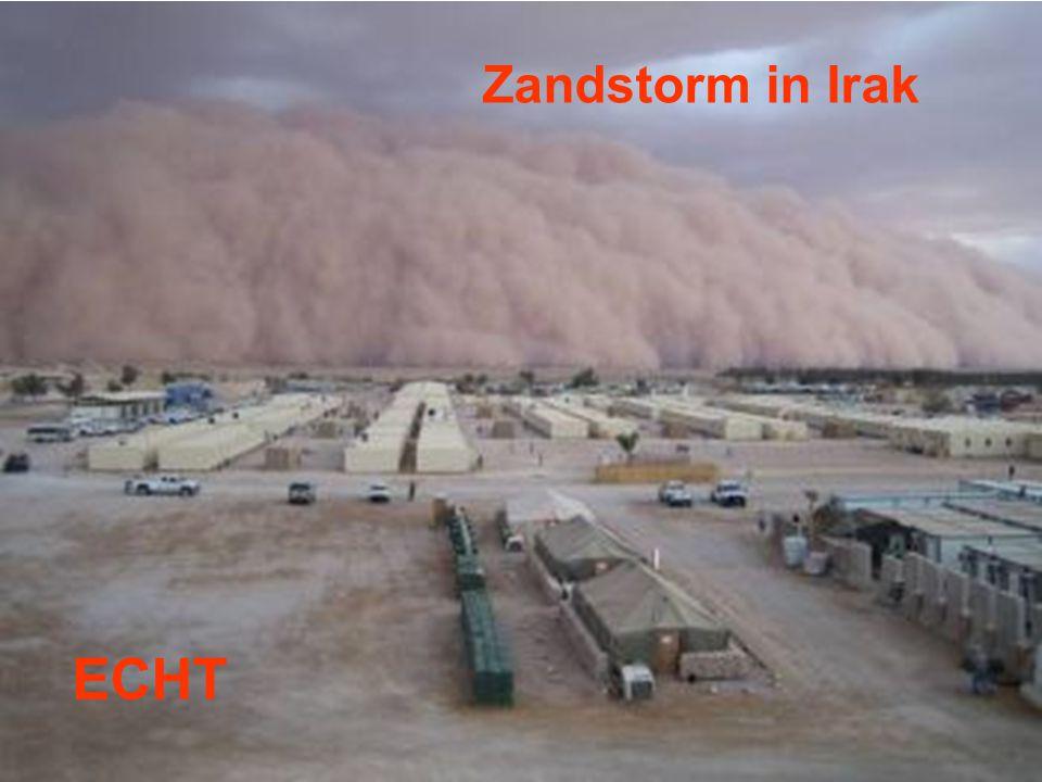 Zandstorm in Irak ECHT