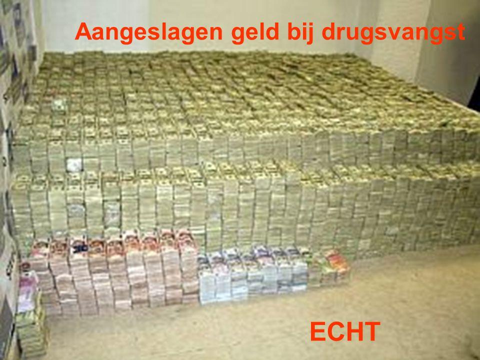 Aangeslagen geld bij drugsvangst