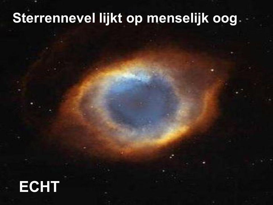 Sterrennevel lijkt op menselijk oog