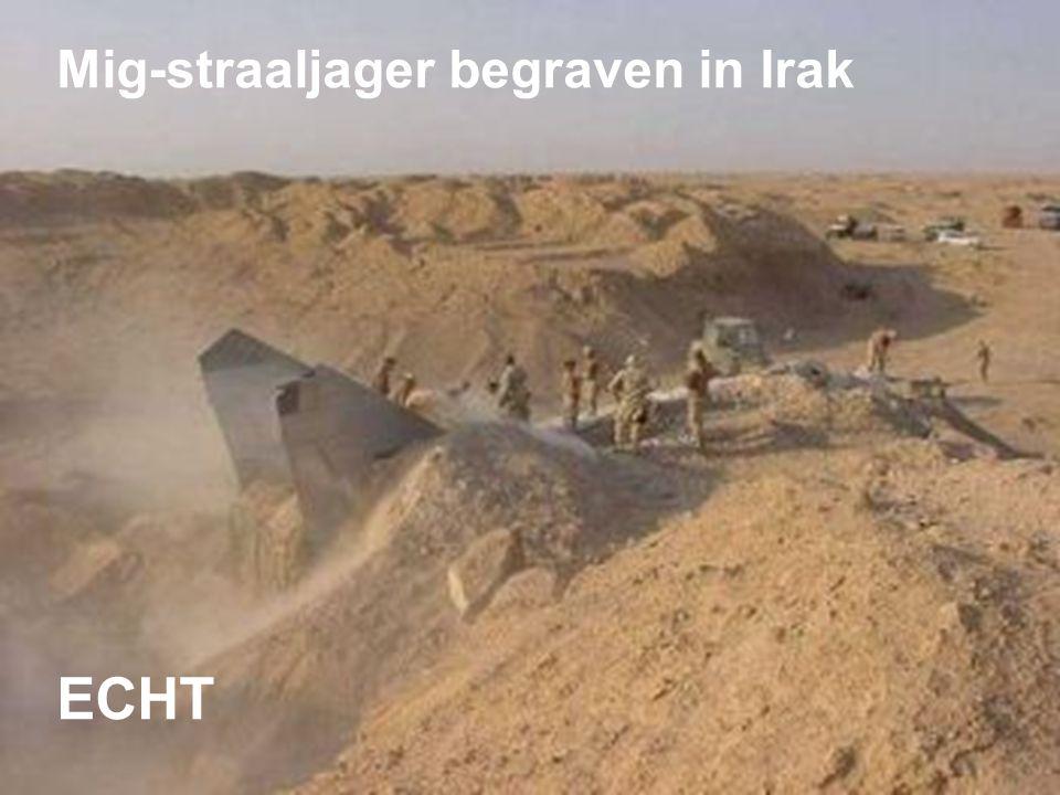 Mig-straaljager begraven in Irak