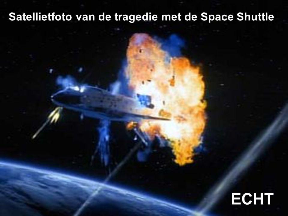 Satellietfoto van de tragedie met de Space Shuttle