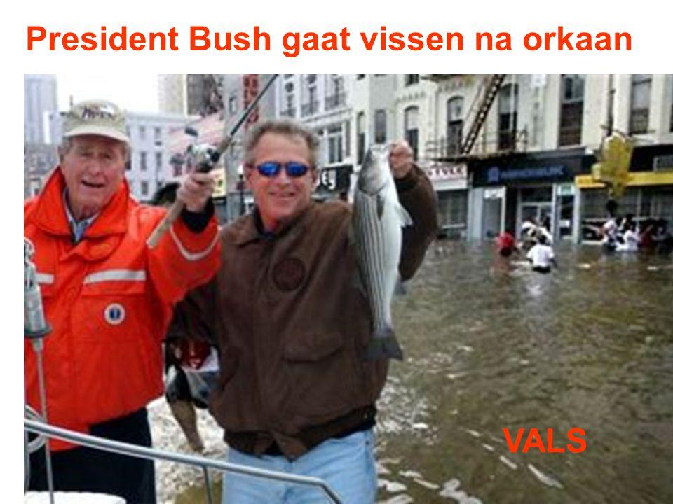 President Bush gaat vissen na orkaan
