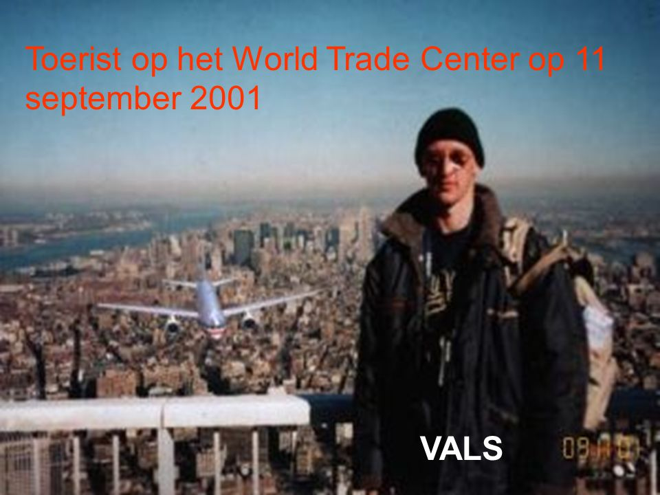 Toerist op het World Trade Center op 11 september 2001