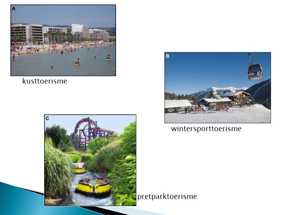 kusttoerisme wintersporttoerisme pretparktoerisme