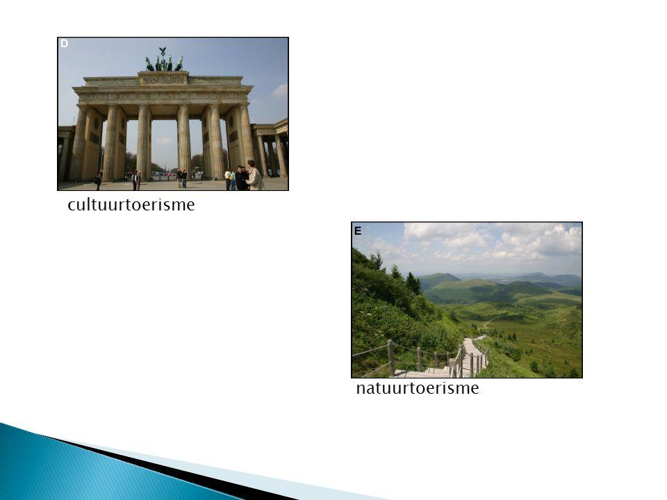 cultuurtoerisme natuurtoerisme