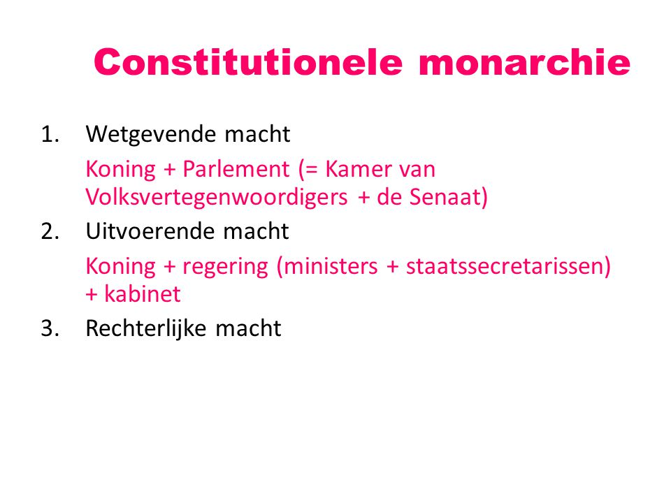 Constitutionele monarchie