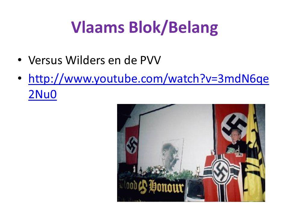 Vlaams Blok/Belang Versus Wilders en de PVV