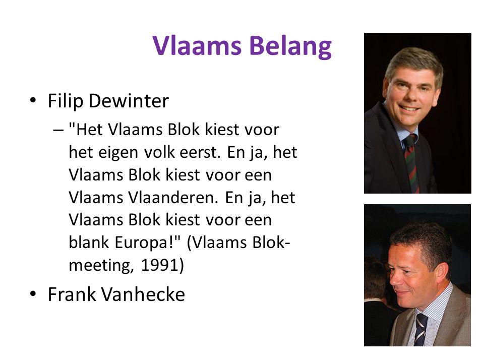 Vlaams Belang Filip Dewinter Frank Vanhecke