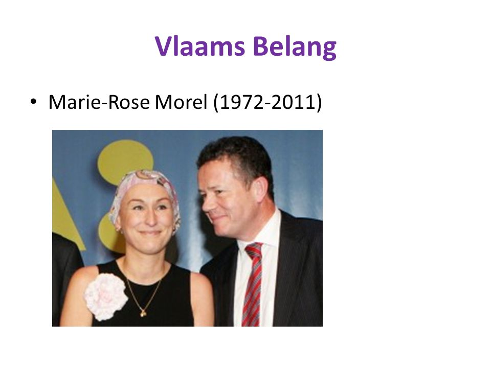 Vlaams Belang Marie-Rose Morel (1972-2011)