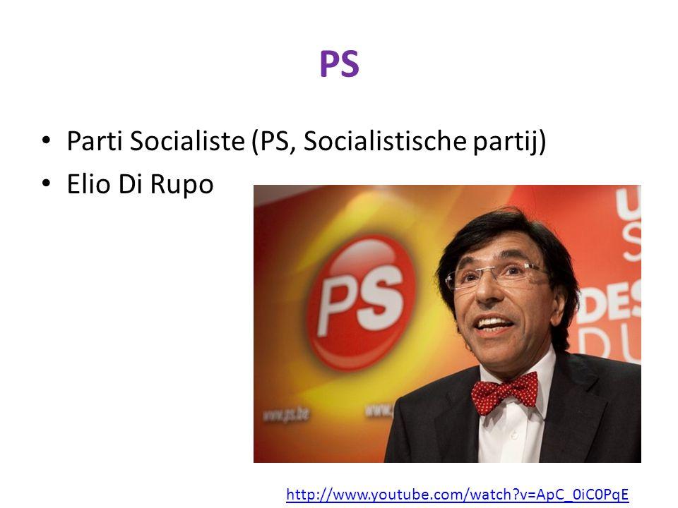 PS Parti Socialiste (PS, Socialistische partij) Elio Di Rupo
