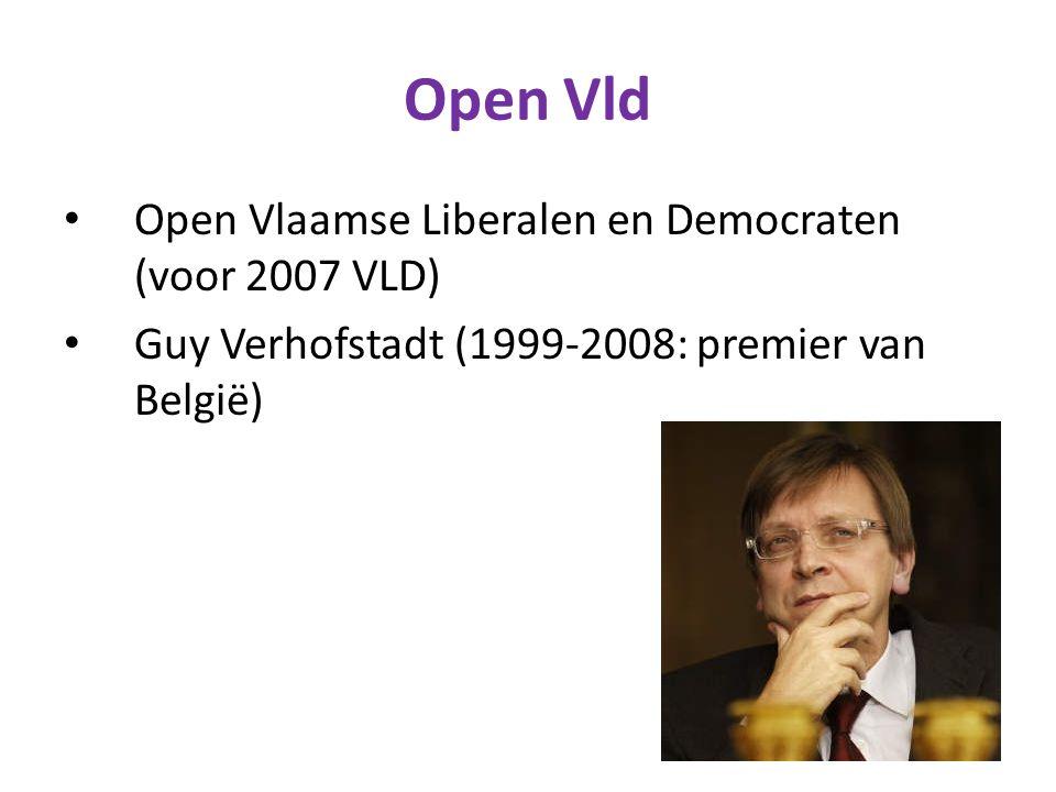Open Vld Open Vlaamse Liberalen en Democraten (voor 2007 VLD)