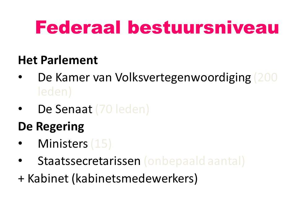 Federaal bestuursniveau