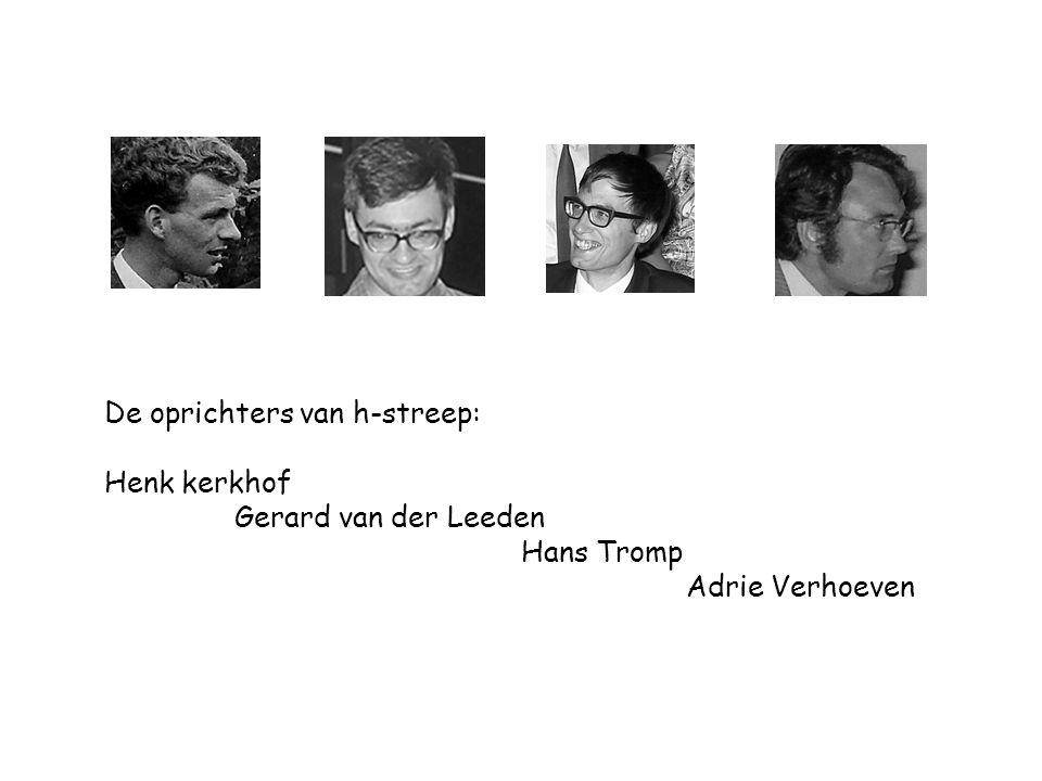 De oprichters van h-streep: