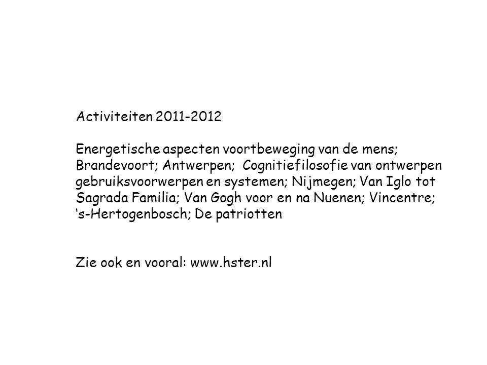 Activiteiten 2011-2012