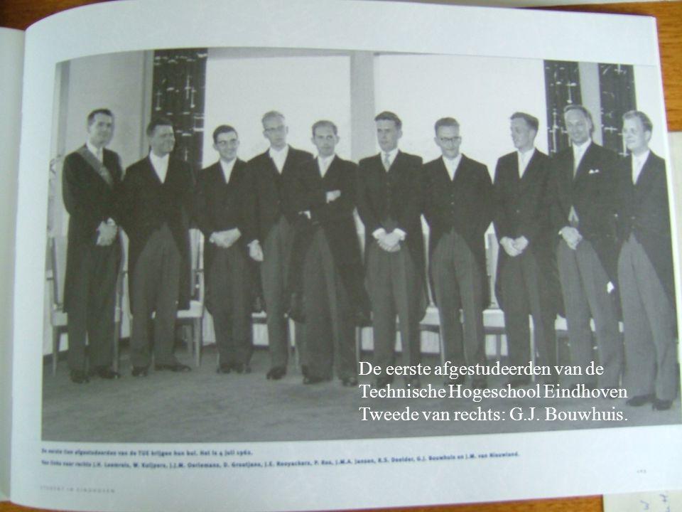 De eerste afgestudeerden van de Technische Hogeschool Eindhoven