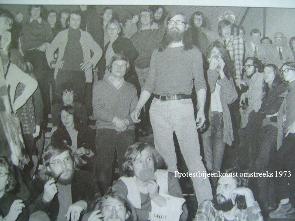 Protestbijeenkomst omstreeks 1973