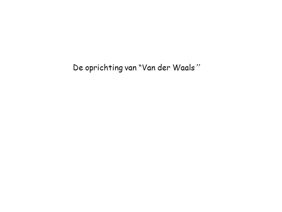 De oprichting van Van der Waals