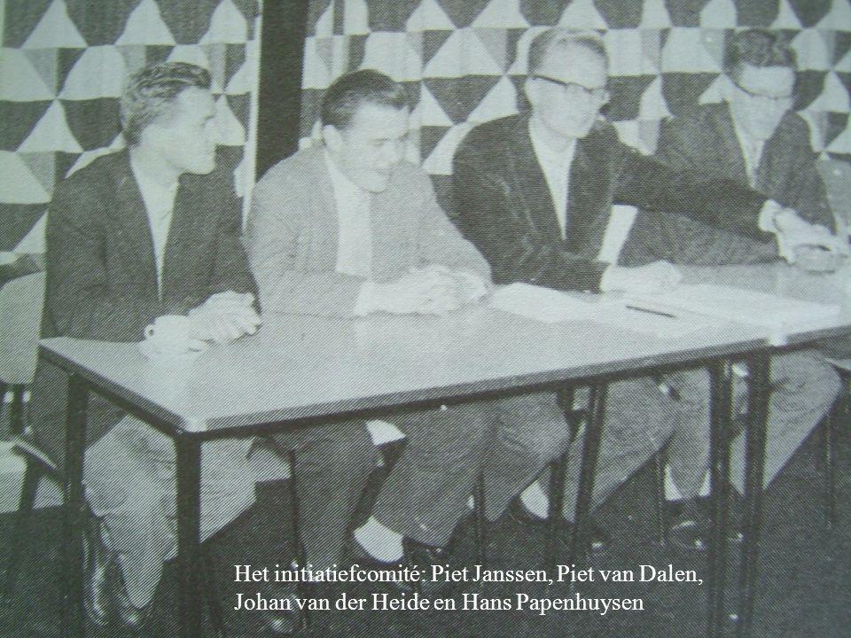 Het initiatiefcomité: Piet Janssen, Piet van Dalen,