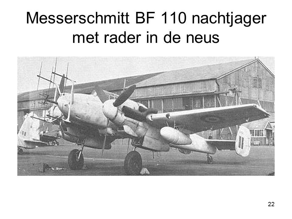 Messerschmitt BF 110 nachtjager met rader in de neus