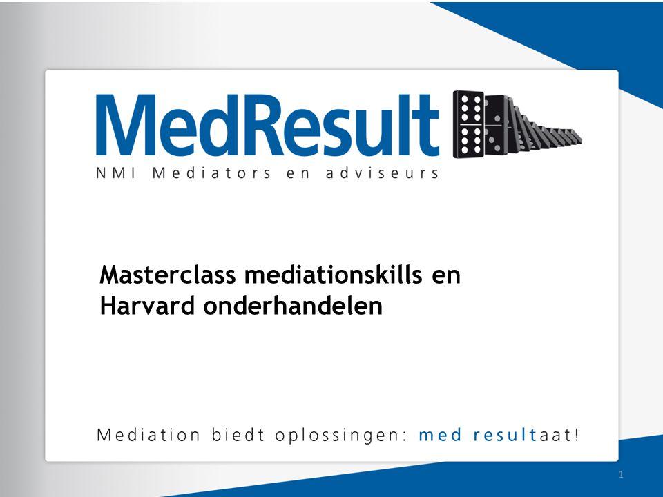 Masterclass mediationskills en Harvard onderhandelen