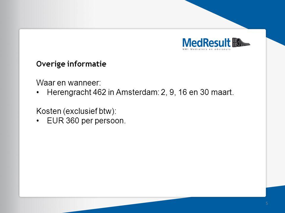 Herengracht 462 in Amsterdam: 2, 9, 16 en 30 maart.