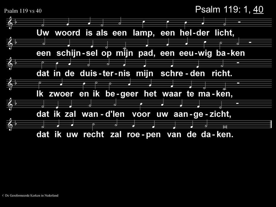 Psalm 119: 1, 40