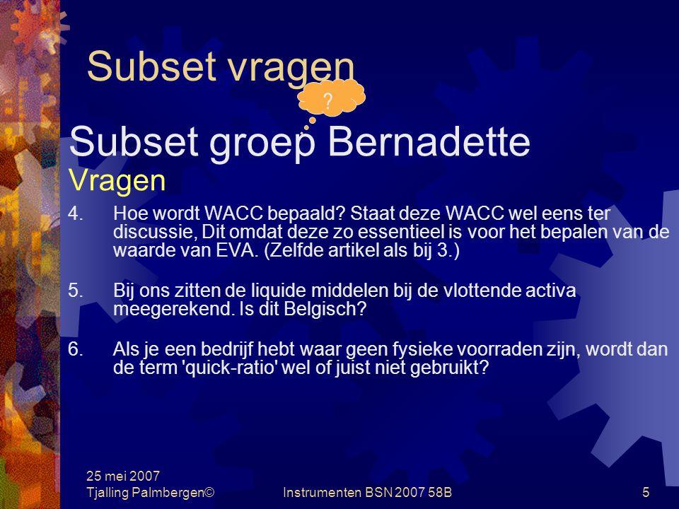 Subset groep Bernadette