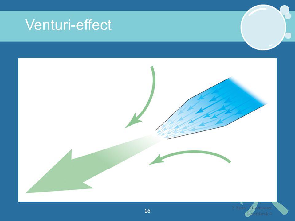 Venturi-effect 3 Sters / Divemaster Hoofdstuk 4