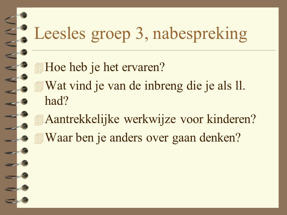 Leesles groep 3, nabespreking