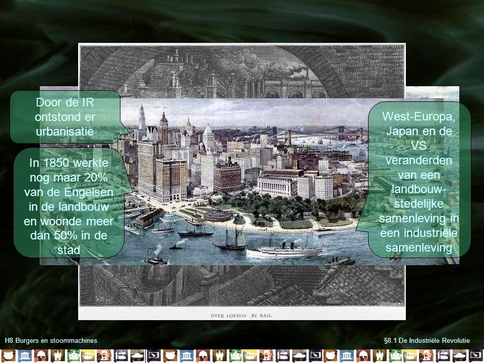 Door de IR ontstond er urbanisatie