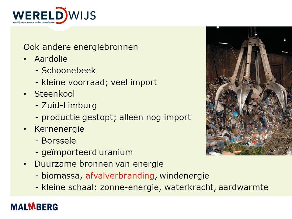 Ook andere energiebronnen