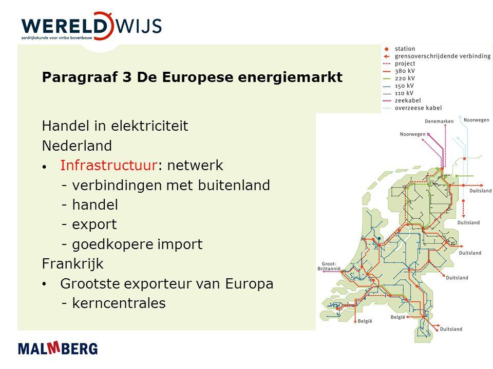 Paragraaf 3 De Europese energiemarkt
