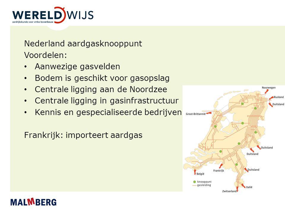 Nederland aardgasknooppunt