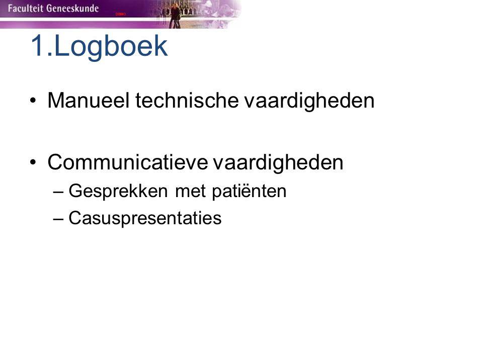 1.Logboek Manueel technische vaardigheden Communicatieve vaardigheden
