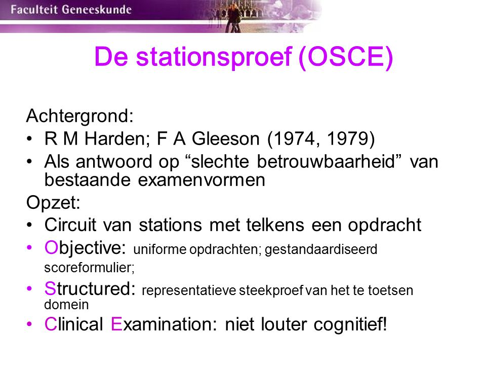 De stationsproef (OSCE)