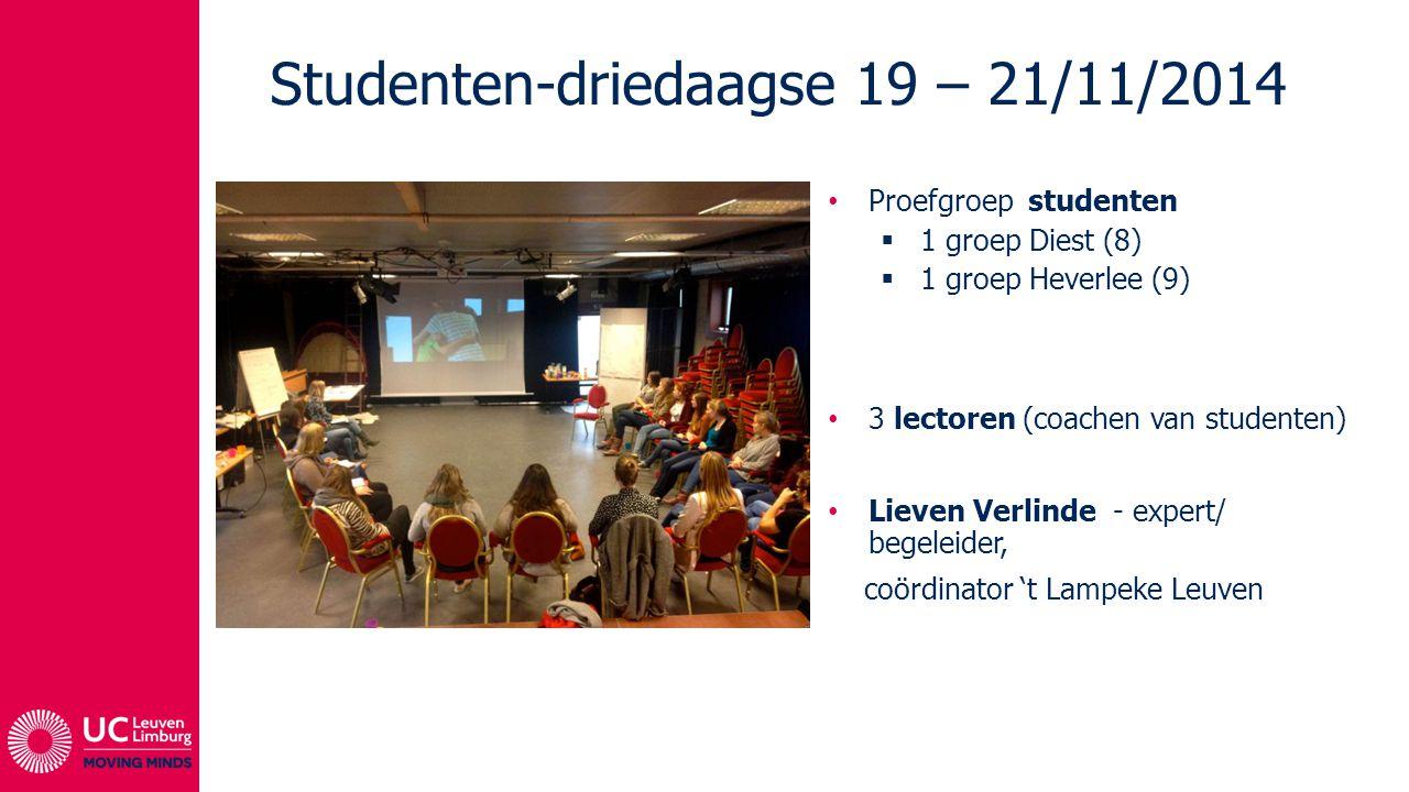 Studenten-driedaagse 19 – 21/11/2014