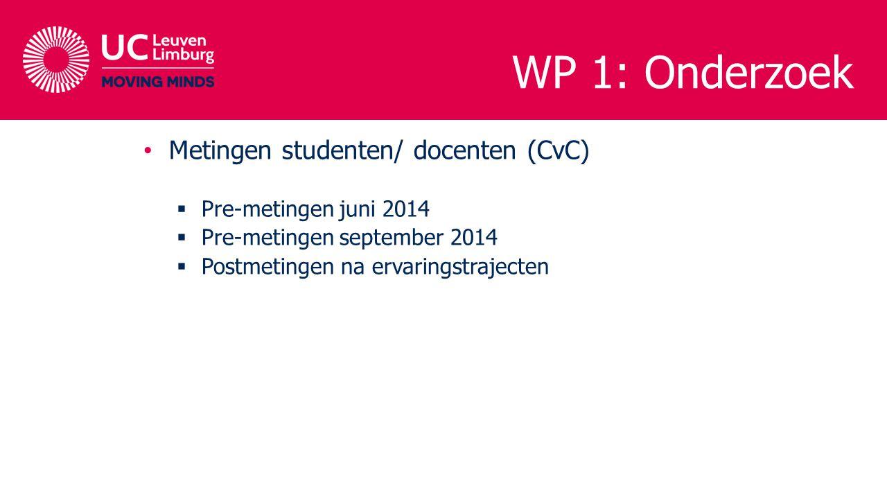 WP 1: Onderzoek Metingen studenten/ docenten (CvC)