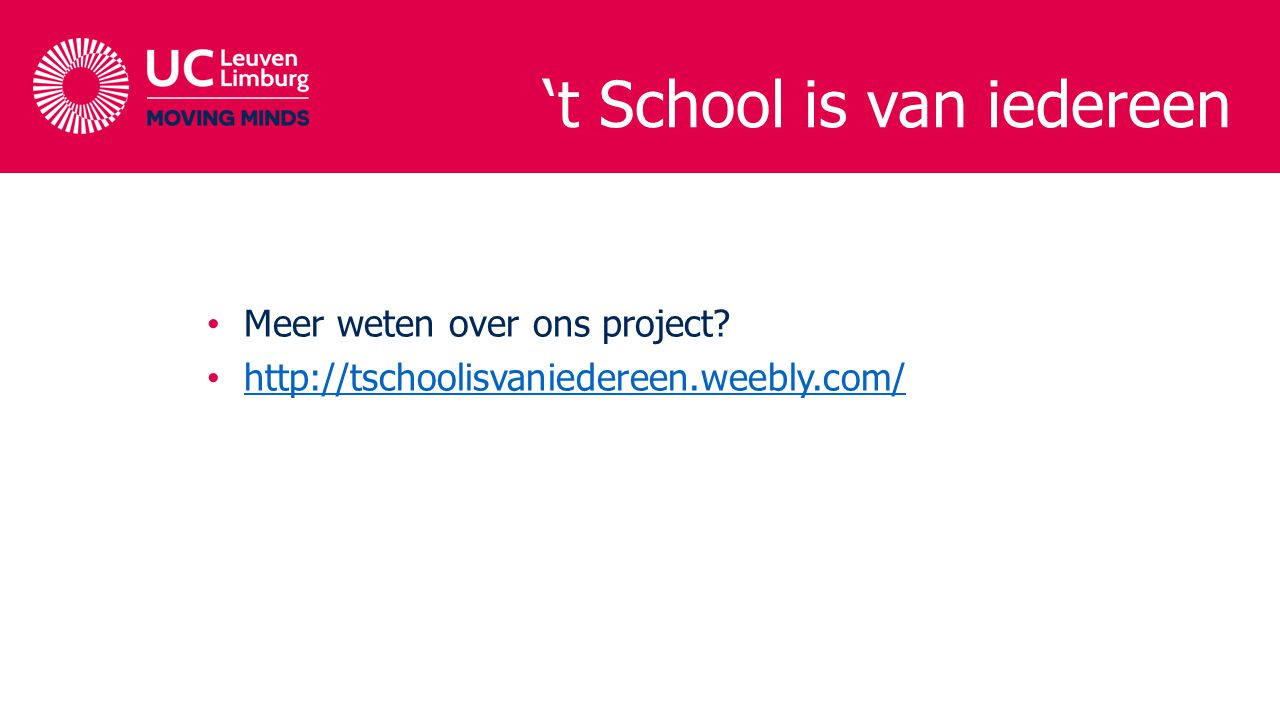 't School is van iedereen