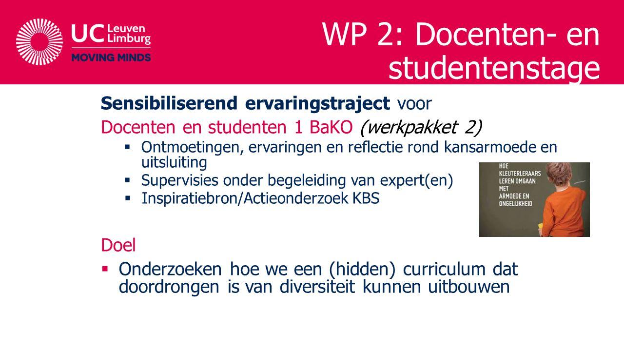 WP 2: Docenten- en studentenstage